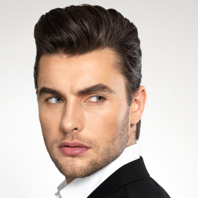 man with thick hair